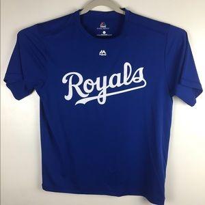 Kansas City Royals blue cool base tee. Large
